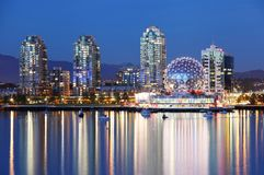 Vancouver at night Royalty Free Stock Image