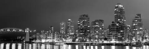 Vancouver Nighttime stock photos