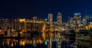 Vancouver noc Obraz Royalty Free