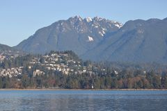 Vancouver Northshore Residential Housing Royalty Free Stock Images