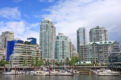Vancouver od Granville wyspy Zdjęcie Stock