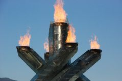 Vancouver Olympic Cauldron stock photos