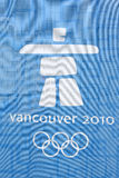 Vancouver Olympic Logo. Inukshuk logo of the 2010 Vancouver Olympic Games Stock Photo
