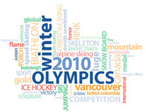 Vancouver Olympics Word GFX outline Royalty Free Stock Photo