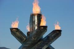 Vancouver-olympischer großer Kessel Stockfotos