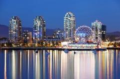 Vancouver på natten royaltyfri bild