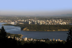 Vancouver, panoram,ic view w Stanley Park Stock Photography