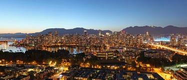 Vancouver-Panorama Lizenzfreies Stockfoto
