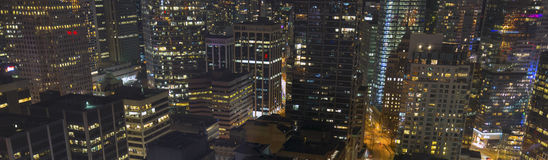 Vancouver Panorama. A panorama of the city of Vancouver, BC, Canada Stock Photography