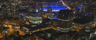 Vancouver Panorama. A panorama of the city of Vancouver, BC, Canada Stock Photos