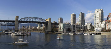 Vancouver Panorama royalty free stock image