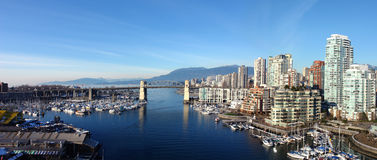 Vancouver Panoramic. Panoramic image of the city of Vancouver Royalty Free Stock Photography