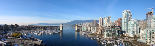 Vancouver panoramique Images stock