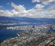 Vancouver - panoramische Ansicht lizenzfreie stockbilder