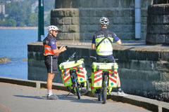 Vancouver Paramedics on Bicycles Stock Image