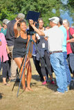 Vancouver People Watching Solar Eclipse royalty free stock image