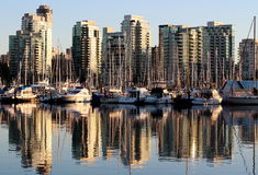 Vancouver. A photo of the city of Vancouver, BC taken from Stanley Park Royalty Free Stock Images