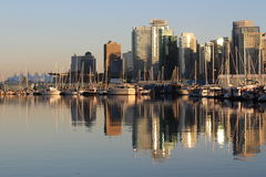 Vancouver. A photo of the city of Vancouver, BC taken from Stanley Park Stock Image