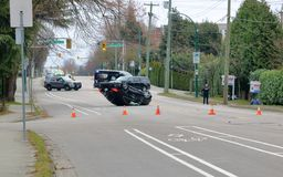 Vancouver Police and Accident Stock Image