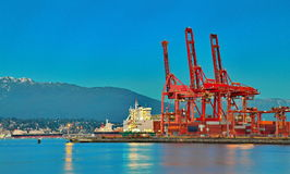 Vancouver Port Stock Photo