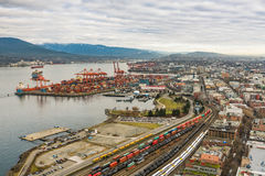 Vancouver Port from high viewpoint Stock Image