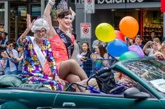 Vancouver 2016 Pride Parade i Vancouver, Kanada Royaltyfria Foton
