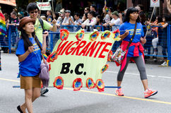 Vancouver 2016 Pride Parade i Vancouver, Kanada Arkivfoto
