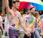 Vancouver 2016 Pride Parade i Vancouver, Kanada Royaltyfri Bild