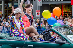 2016 Vancouver Pride Parade in Vancouver, Canada Royalty Free Stock Photos