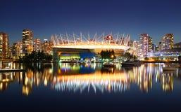 Vancouver przy nocą Obrazy Royalty Free