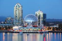 Vancouver przy nocą Fotografia Stock