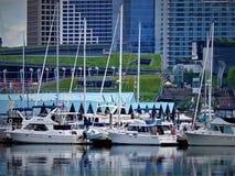 Vancouver, puerto deportivo británico de la ciudad de Columber foto de archivo