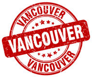 Vancouver red grunge round vintage stamp. Vancouver red grunge round vintage rubber stamp Stock Image