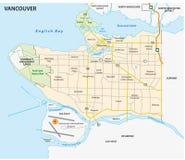 Vancouver road and nighborhood  map Stock Image