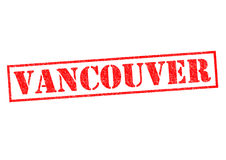 VANCOUVER. Rubber Stamp over a white background Stock Image