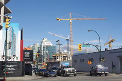 Vancouver's construction of new condominums Stock Photos