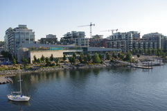 Vancouver's construction of new condominums Royalty Free Stock Photos