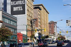 Vancouver's Downtown Eastside stock image