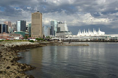 Vancouver's Downtown Skyline and Shore Royalty Free Stock Images