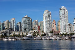 Vancouver's False Creek. Looking north across Vancouver's False Creek Stock Images