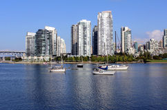 Vancouver's False Creek. Looking northwest across False Creek to downtown Vancouver Stock Photography
