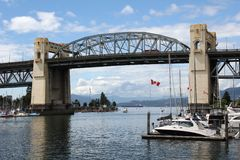Vancouver's False Creek and Burrard Bridge Stock Image