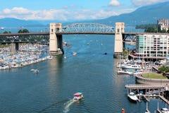 Vancouver's False Creek and the Burrard Street Bridge Stock Photos