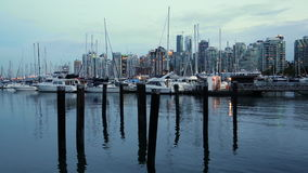 Vancouver`s harbour and skyline, Canada. Vancouver harbour & skyline, Vancouver, Canada stock video footage