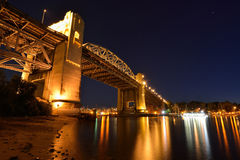Vancouver's historic Burrard Bridge Royalty Free Stock Photography