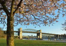 Vancouver's historic Burrard Bridge Royalty Free Stock Photo