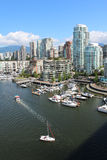 Vancouver's Inner Harbour. Looking north on Vancouver's Granville Street Bridge Royalty Free Stock Photo