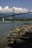 Vancouver's Lion's Gate Bridge Royalty Free Stock Photography