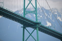 Vancouver`s Lions Gate Bridge Stock Images