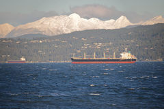 Vancouver`s North Shore Mountain Range Royalty Free Stock Images